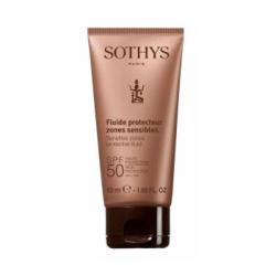 Sothys Sensitive Zones Protective Fluid High Protection Uva/Uvb - Флюид с spf50 для лица и чувствительных зон тела 50 мл