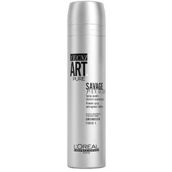 L'Oreal Professionnel Tecni.art Savage Panache Pure - Сухой спрей с пудровой текстурой без запаха, 250 мл